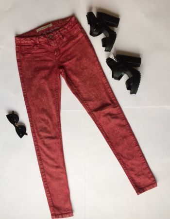 Jeans skinny red