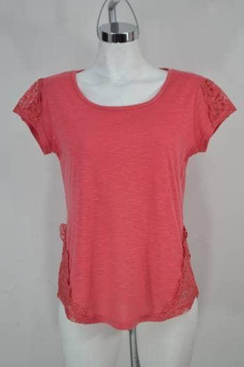 AMANG NY Camiseta rosa con Encaje Talla S