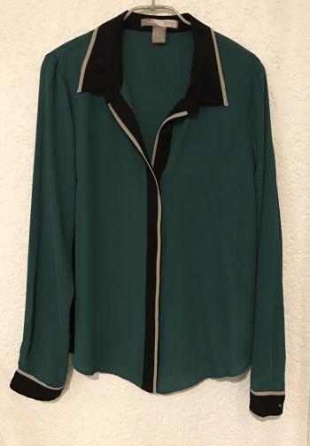 Camisa de gasa verde