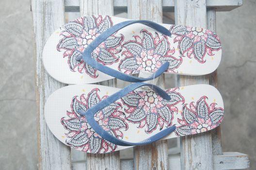 Sandalias floral
