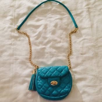 Bolsa azul verde