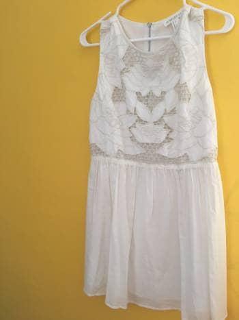 Vestido blanco/hueso