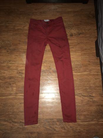 2x1 Jeans rojo quemado