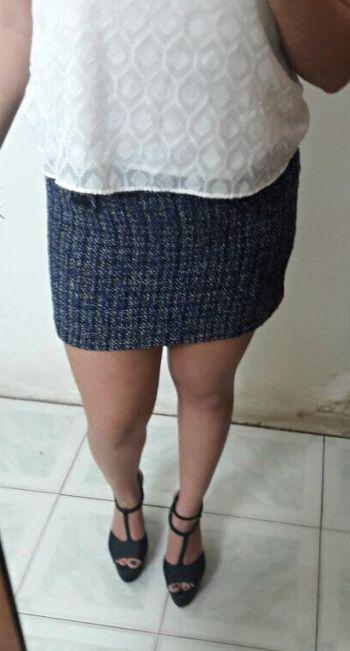 Mini-falda tweed
