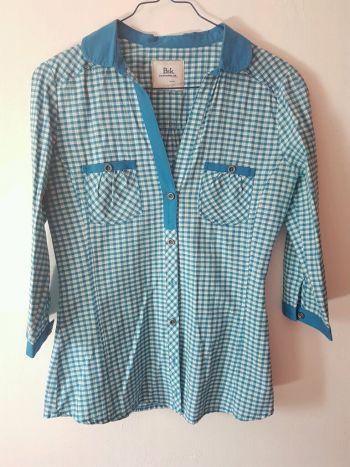 Camisa de cuadros azul BSK