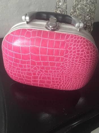 Bolsa rosa print