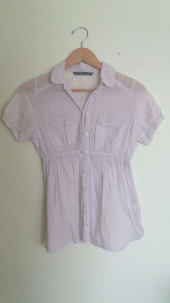 Blusa lila de botones