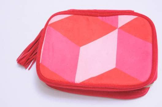 Bolsa rosa y rojo