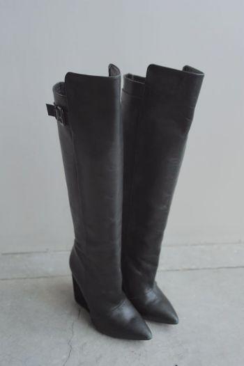 Botas altas con mini tacón
