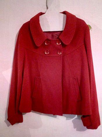 Abrigo lana rojo