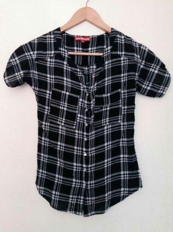 Camisa cuadros blanco y negro ●●2x1●●