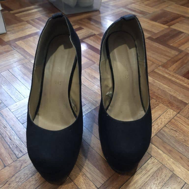 comprar popular a6916 f2120 Zapatillas Negras tacón corrido