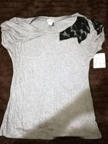 Blusa gris talla grande