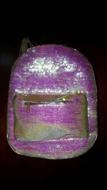 Mochila lentejuela