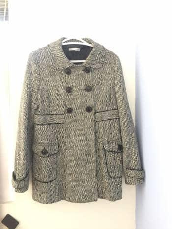 Abrigo de Tweed cruzado