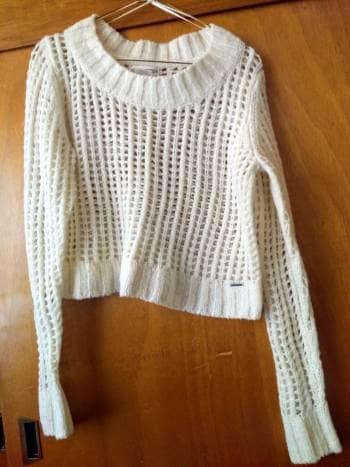 Suéter blanco tejido