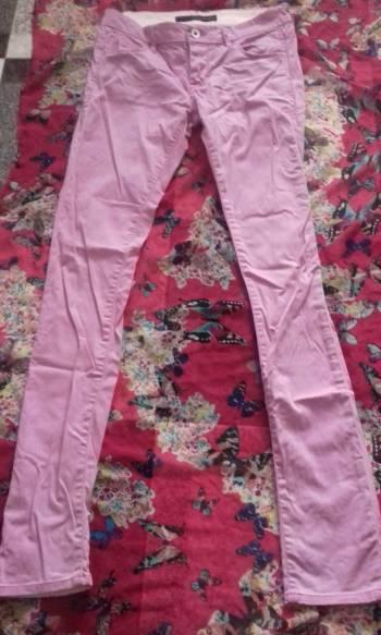 Jeans Rosa skinny tiro bajo