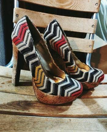 Zapatos retro de punto