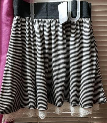 493ce670c6 Falda de rayas gris con negro - GoTrendier - 1040631