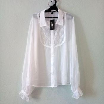 Blusa blanca en poliester
