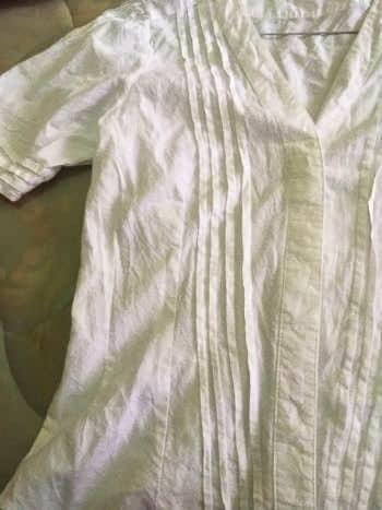 ♥️ Blusa blanca con detalles de drapeado