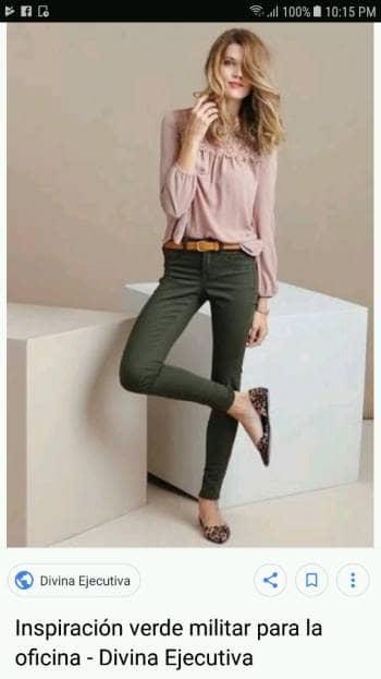 mitad de descuento d37dc c0f06 Pantalón verde militar de vestir