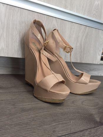Zapatos plataforma Steve Madden 4.5mx nude