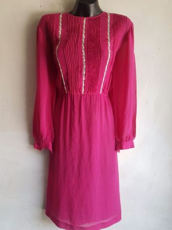 2x 1 vestido fiusha  con encaje