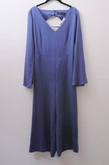 Jumpsuit azul tipo culotte