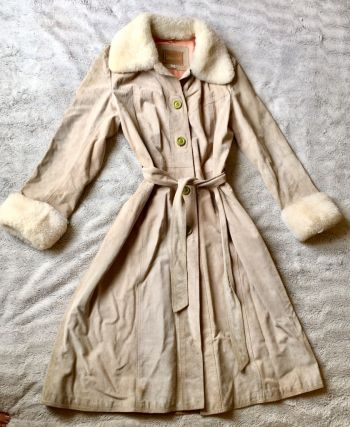 Abrigo de piel vintage 70's