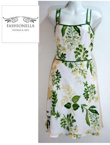 ¡NUEVO! Vestido floral en lino - Fashionella -