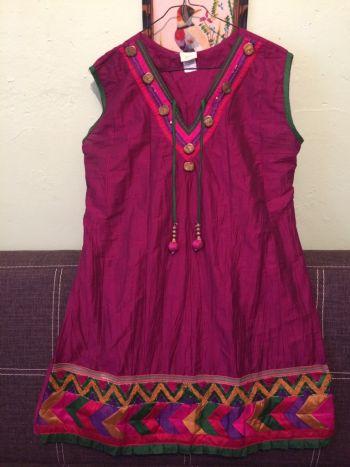 Vestido fiusha ligero