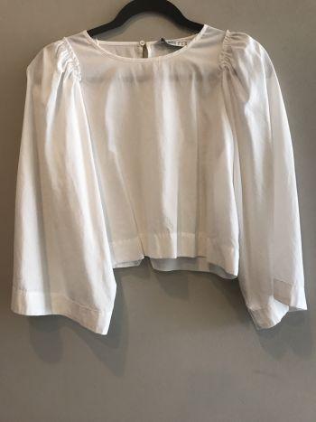 Blusa blanca manga ancha
