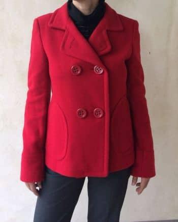 Saco Zara Rojo Cereza