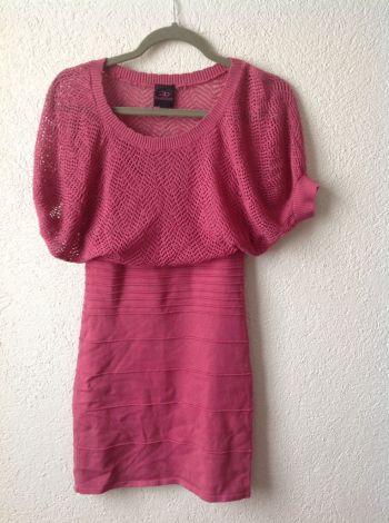 Vestido rosa de punto