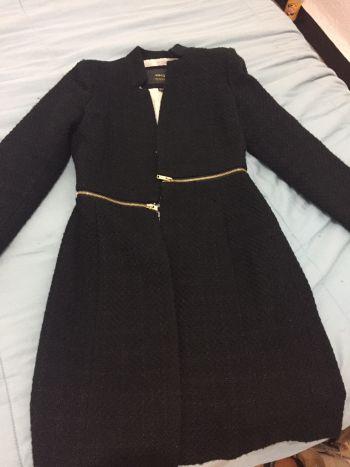 Abrigo negro mango