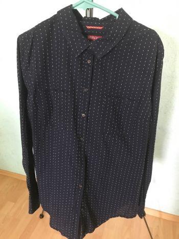 #008 Camisa manga larga azul marino textura