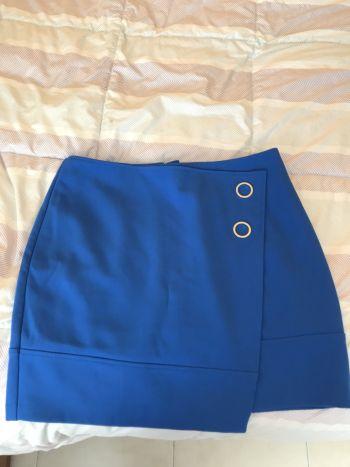Falda h&m azul nueva
