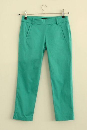 Pantalón tres cuartos turquesa