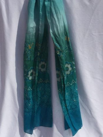 Bufanda turquesa