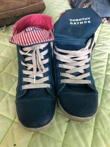 Tenis de bota azules