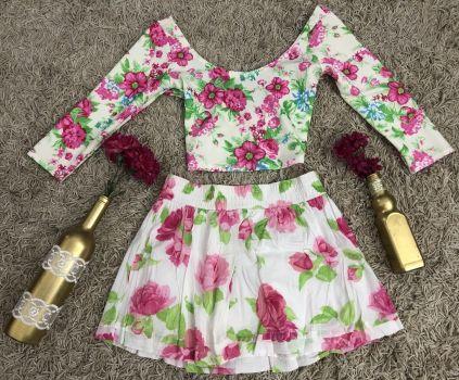 Mini falda floreada