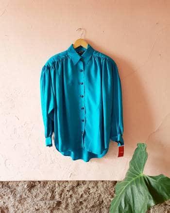 Camisa de seda de los 80s