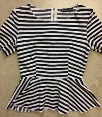 Blusa de rayas blanco y negro 2x1*