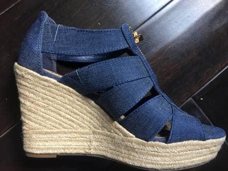 e31f6454fe6 Sandalia tela jeans plataforma - GoTrendier - 762922
