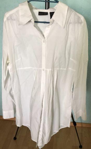 #017 Camisa Blanca manga larga corte A