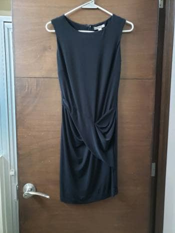 Mini vestido negro mango