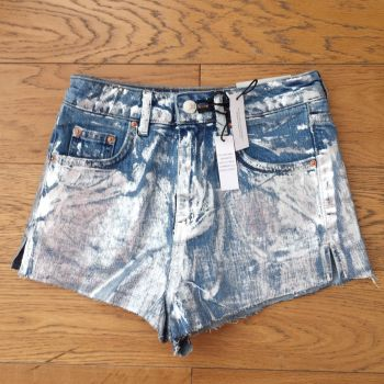 Short Denim con Plateado TOPSHOP