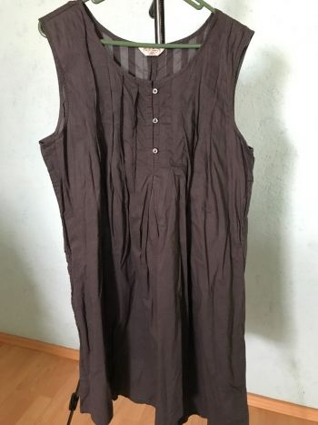 #015 Vestido sin manga gris