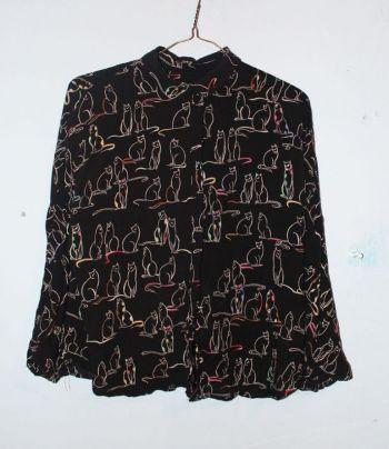 Camisa de gatos zara